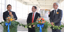 Webasto officially opens 4.500 square meters of additional plant space (f.l.t.r.): Carlos Gonzalez (Plant Manager Puebla, Webasto), Walter Pecho (Chairman Convertibles Management Board, Webasto), Harald Kuhr (Convertibles Management Board, Webasto)